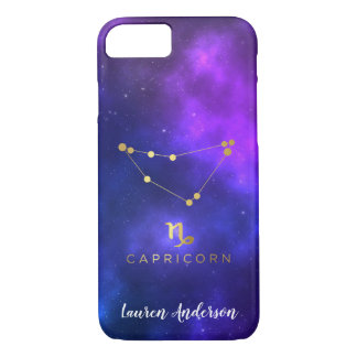 Capricorn Zodiac Sign Custom Name IPhone Case