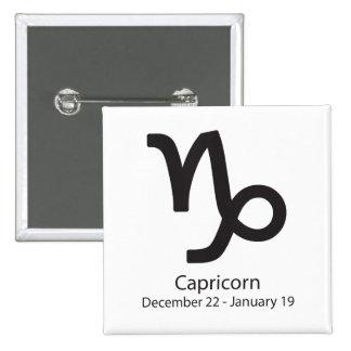 Capricorn zodiac sign December 22 - January 19 15 Cm Square Badge