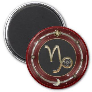 Capricorn Zodiac Sign 6 Cm Round Magnet