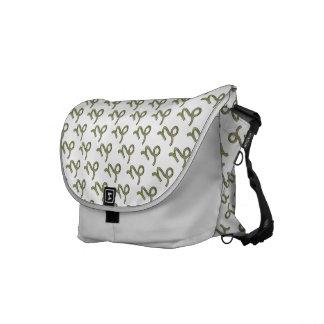 Capricorn Zodiac Symbol Element Messenger Bag