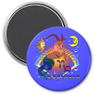 Capricorn-Zodiac-V-1 7.5 Cm Round Magnet