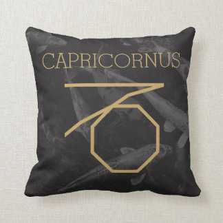 Capricornus Zodiac Sign | Custom Background + Text Cushion