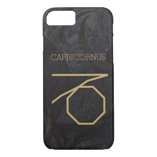 Capricornus Zodiac Sign | Custom Background + Text iPhone 8/7 Case