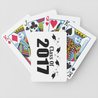 Caps And Diplomas Class Of 2017 (Black) Bicycle Playing Cards
