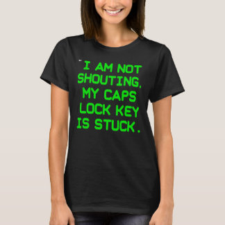 Caps Lock Key CRT (women) T-Shirt