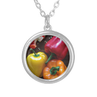 Capsicums... Silver Plated Necklace