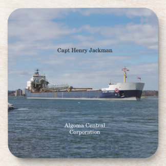 Capt Henry Jackman set of 6 hard plastic coasters