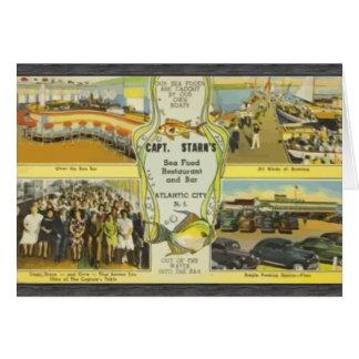 Capt. Starn'S Restaurant And Bar Atlantic City, Vi Greeting Card