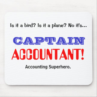 Captain Accountant Accounting Superhero Mouse Pad