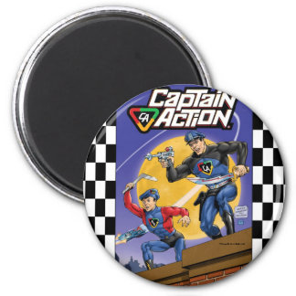 Captain Action- Murphy Anderson 6 Cm Round Magnet