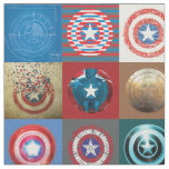 Captain America 75th Anniversary Shield Patchwork Fabric