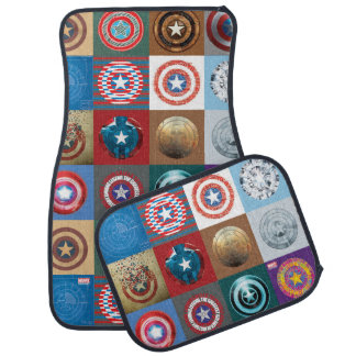 Captain America 75th Anniversary Shield Patchwork Floor Mat