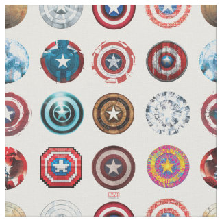 Captain America 75th Anniversary Shield Pattern Fabric