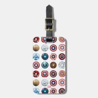 Captain America 75th Anniversary Shield Pattern Luggage Tag