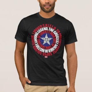 Captain America Alias Typography Shield T-Shirt