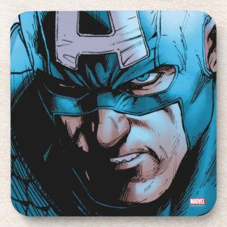 Captain America Avengers Comic Panel Beverage Coaster