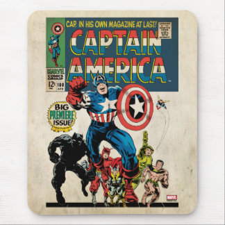 Captain America Comic #100 Mouse Pad