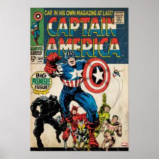 Captain America Comic #100 Poster