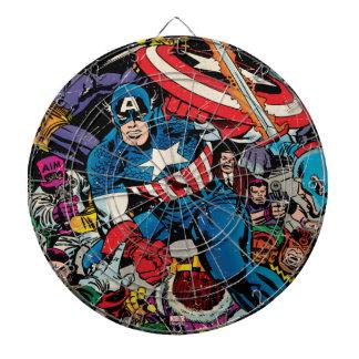 Captain America Comic #112 Dartboard