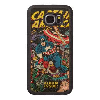 Captain America Comic #112 Wood Phone Case