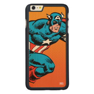 Captain America Dash Carved Maple iPhone 6 Plus Case