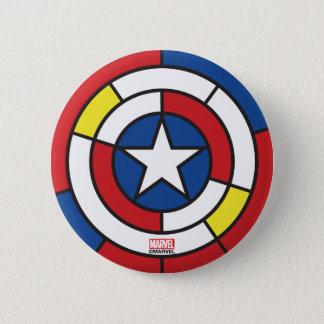 Captain America De Stijl Abstract Shield 6 Cm Round Badge