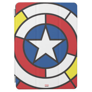 Captain America De Stijl Abstract Shield iPad Air Cover