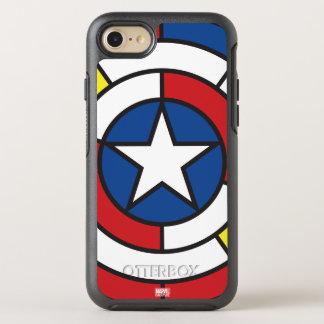 Captain America De Stijl Abstract Shield OtterBox Symmetry iPhone 7 Case