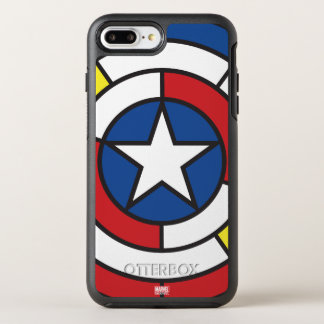 Captain America De Stijl Abstract Shield OtterBox Symmetry iPhone 8 Plus/7 Plus Case