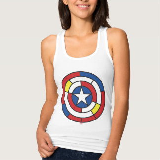 Captain America De Stijl Abstract Shield T Shirt