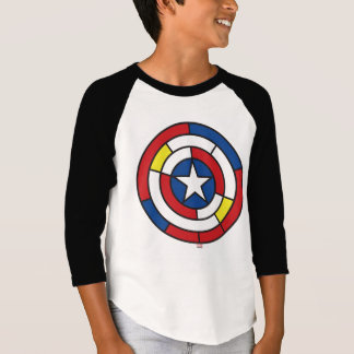 Captain America De Stijl Abstract Shield T-Shirt