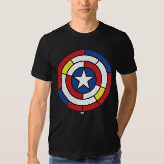 Captain America De Stijl Abstract Shield Tee Shirts