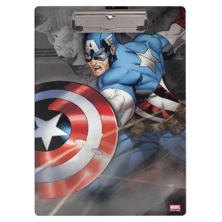 Captain America Deflecting Attack Clipboard