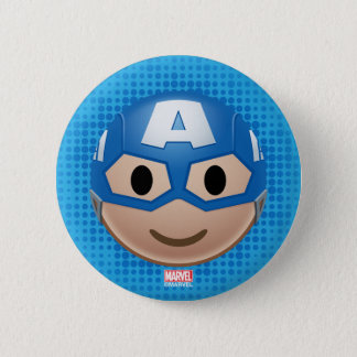 Captain America Emoji 6 Cm Round Badge