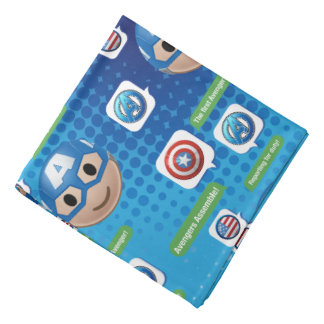 Captain America Emoji Bandana