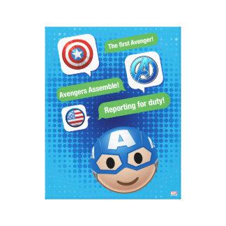 Captain America Emoji Canvas Print