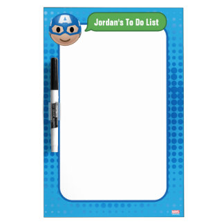 Captain America Emoji Dry-Erase Whiteboards