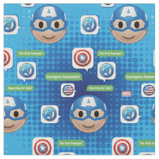 Captain America Emoji Fabric