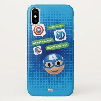 Captain America Emoji iPhone X Case