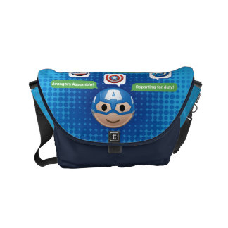 Captain America Emoji Messenger Bags