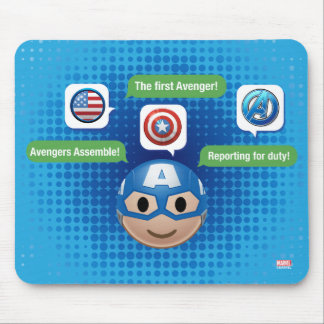 Captain America Emoji Mouse Pad