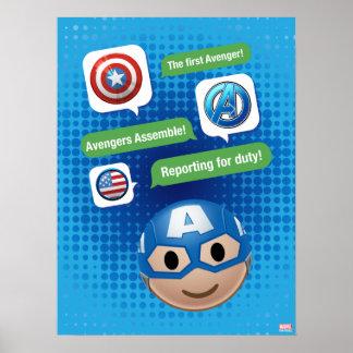 Captain America Emoji Poster