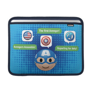 Captain America Emoji Sleeve For MacBook Air