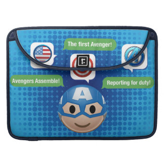 Captain America Emoji Sleeve For MacBooks