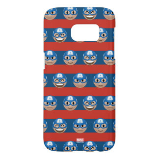 Captain America Emoji Stripe Pattern