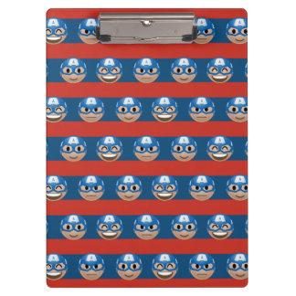 Captain America Emoji Stripe Pattern Clipboard