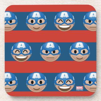 Captain America Emoji Stripe Pattern Coasters