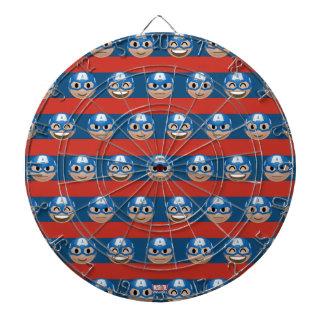 Captain America Emoji Stripe Pattern Dartboard