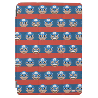 Captain America Emoji Stripe Pattern iPad Air Cover