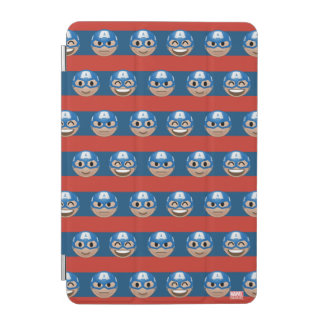 Captain America Emoji Stripe Pattern iPad Mini Cover